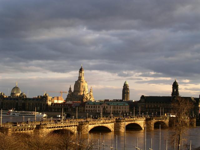 Дрезден вид на старый город