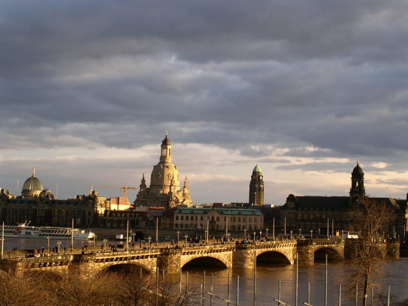 Дрезден вид на старый город (Dresden Altstadt фото Akelei)