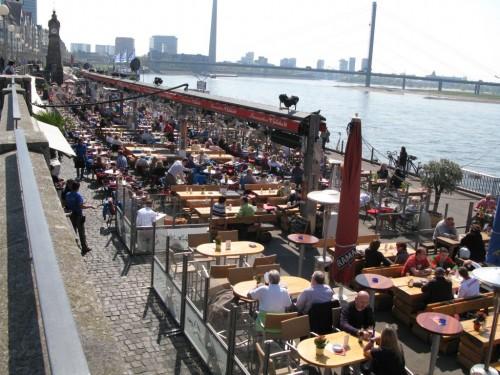 Набережная Рейна в Дюссельдорфе