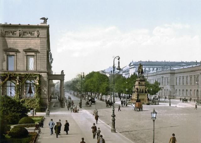 Улица Унтер-ден-Линден (Unter den Linden), 1890 год