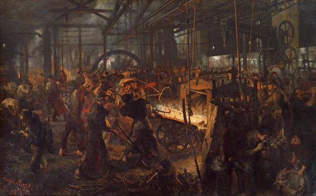 «Железопрокатный завод» Адольфа фон Менцеля (1875 г.)