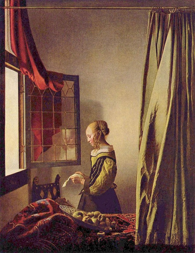 «Девушка, читающая письмо у раскрытого окна» Ян Вермер.