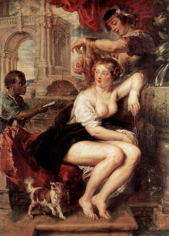 """Вирсавия у фонтана"", Питер Пауль Рубенс, 1635г."
