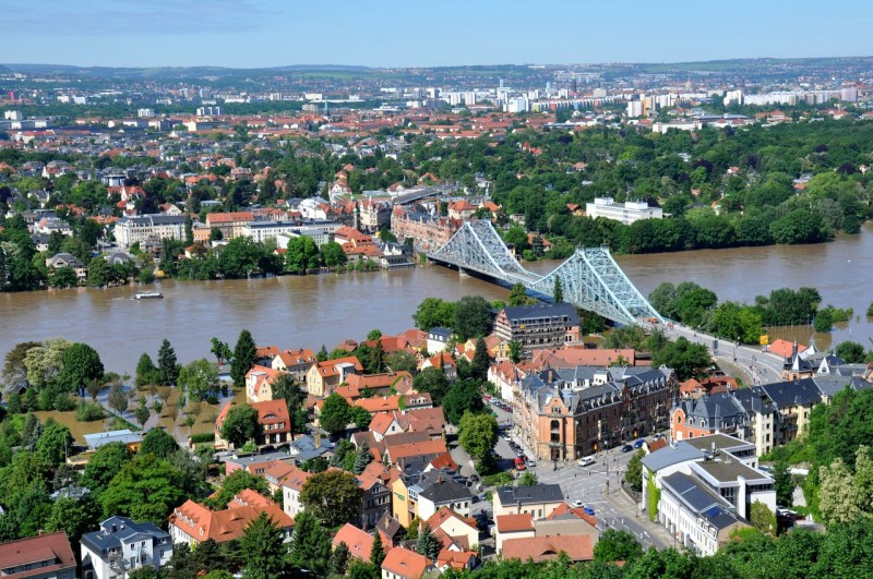 Вид на мост «Голубое чудо»