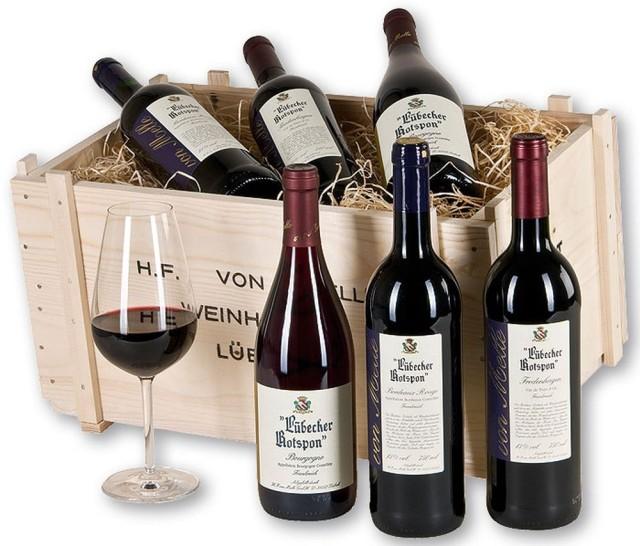 Местное красное вино Lübecker Rotspon