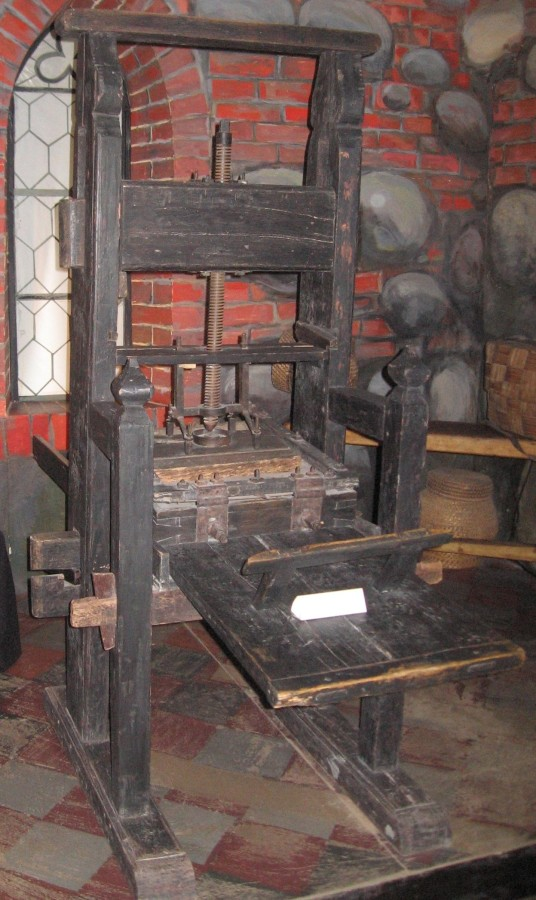 Печатный станок Гутенберга