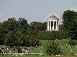 Английский парк. Мюнхен