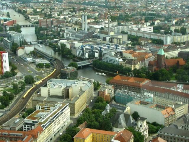 Обзор с Берлинской телебашни (Berliner Fernsehturm)