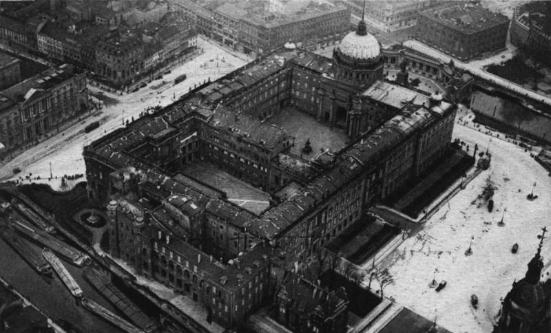 Вид на Берлинский Городской дворец сверху (1905-1925гг.)