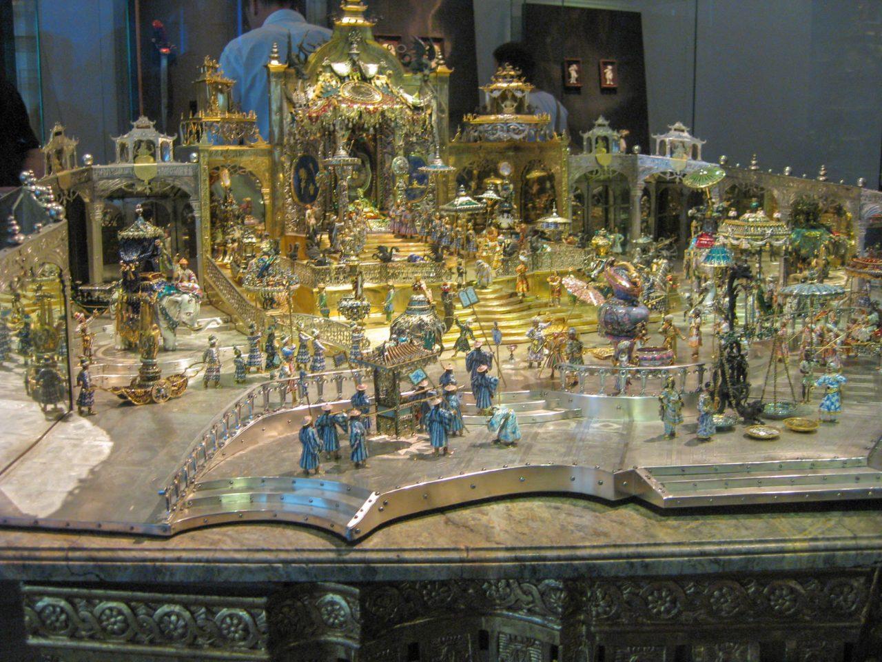 Дворцовый приём в Дели в день рождения Великого Могола Аурангзеба, 1701—1708