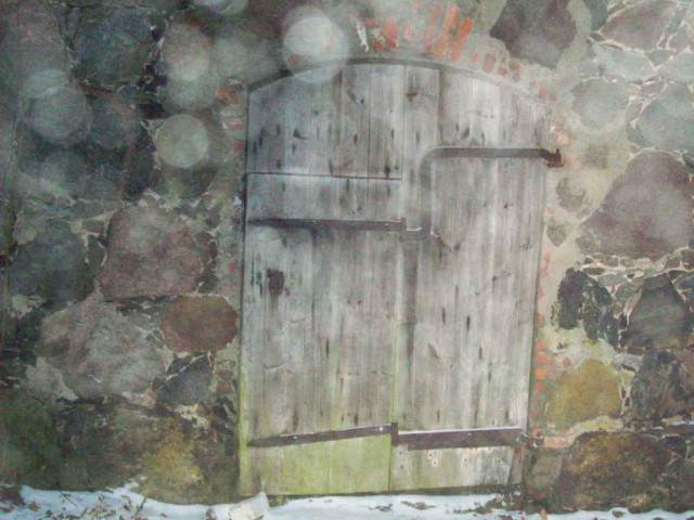 Амбарная дверь с калиткой (возраст более 300 лет)