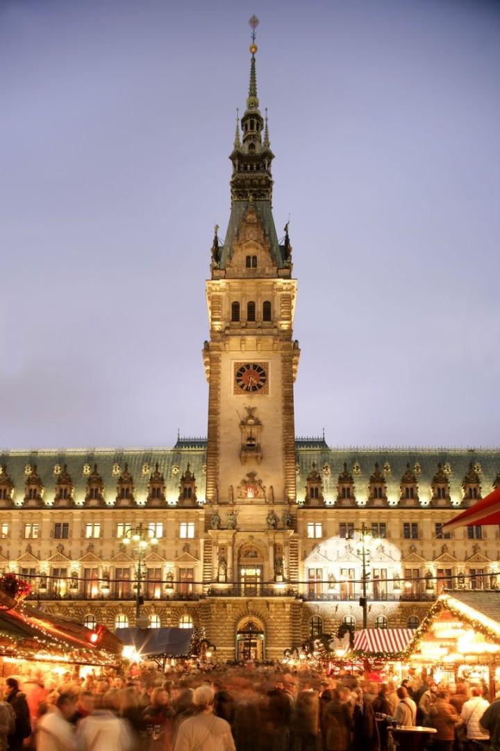 Рождественский базар в Гамбурге