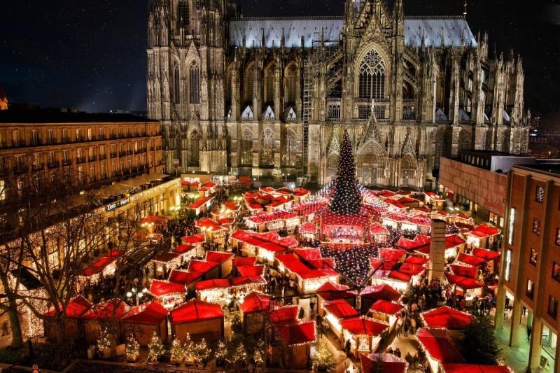 Рождественский базар в Кёльне