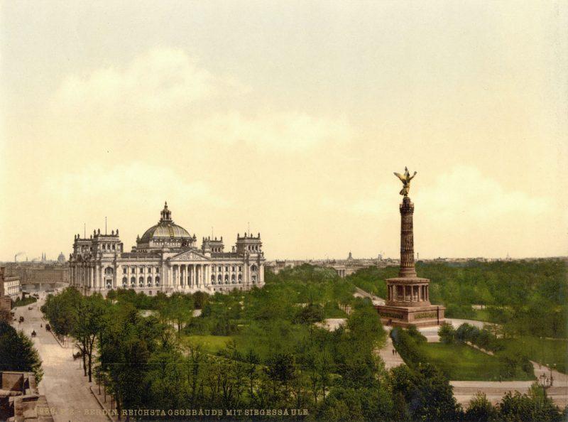 Колонна Победы на площади Кёнигсплац, 1900 г.