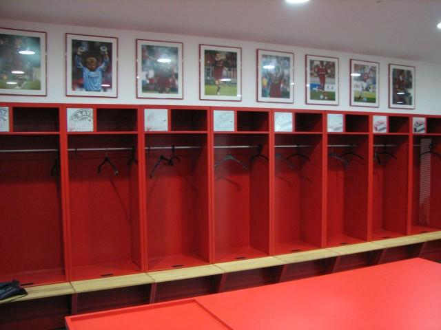 Футбольный стадион «Альянц Арена» (Allianz Arena), раздевалка