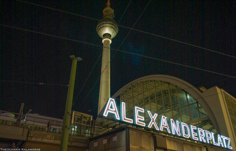 Телебашня рядом с Alexanderplatz Bahnhof