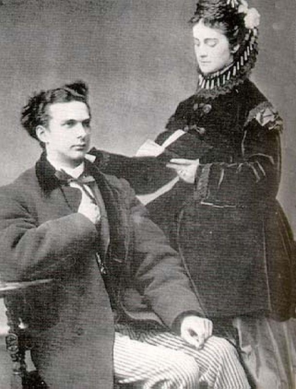 Людвиг II и герцогиня София Шарлотта в Баварии в 1867 году