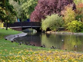 Штадтпарк — городской парк Нюрнберга. Нептунбруннен — фонтан с замечательной историей