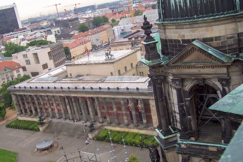 Вид на Старый музей сверху