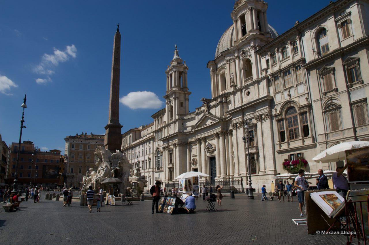Псевдоегипетский обелиск, изготовленный в Риме во времена правления Домициана
