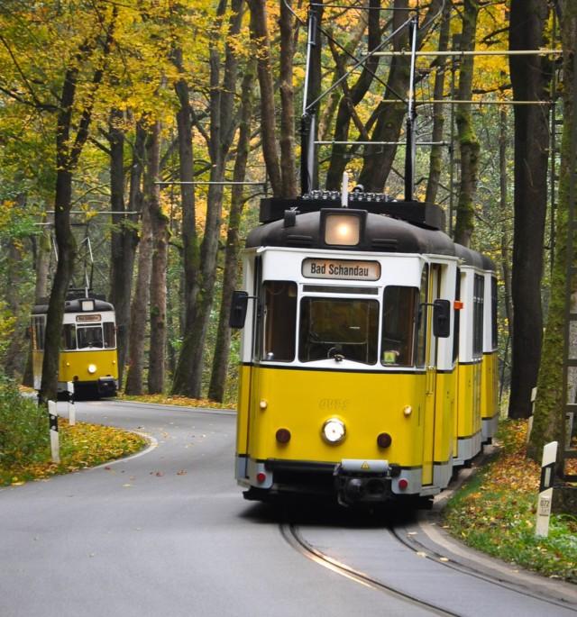 Уникальная трамвайная линия – Кирничтальбан (Kirnitzschtalbahn)
