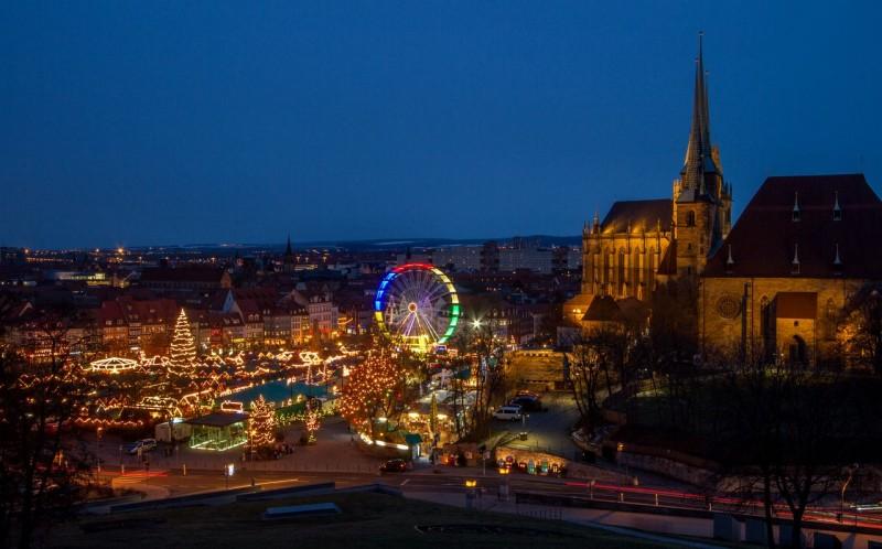 Эрфурт. Рынок на Соборной площади