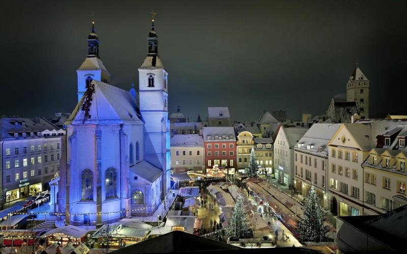 Рождественский базар на Neupfarrplatz