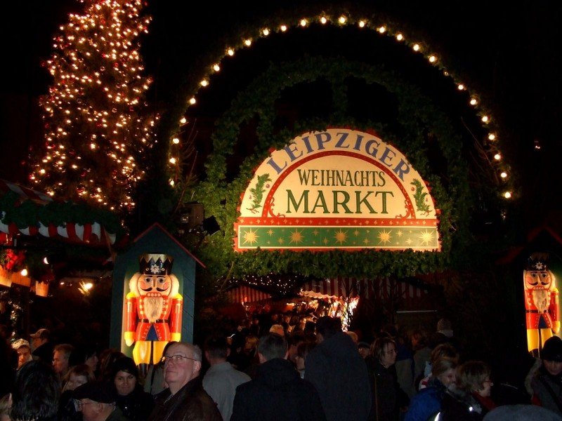 Рождественский базар в Лейпциге