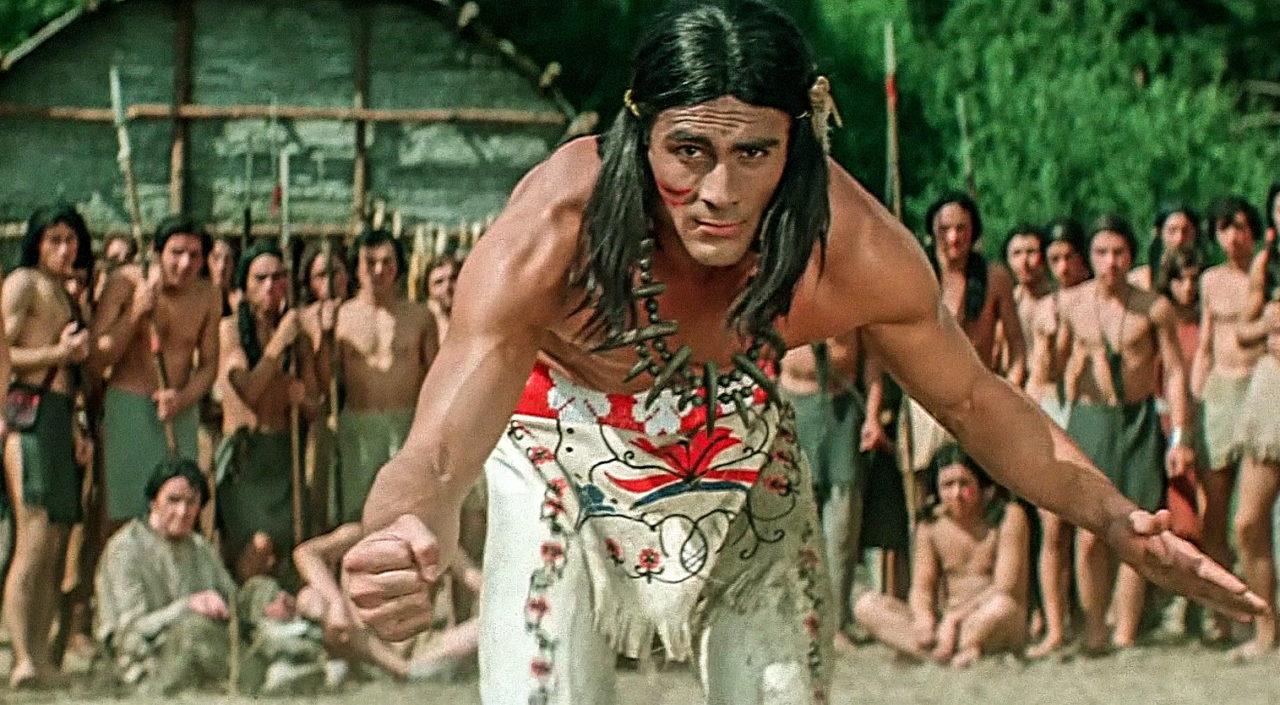Кадр из фильма «Чингачгук — Большой Змей» (1967 г.), производство ДЕФА