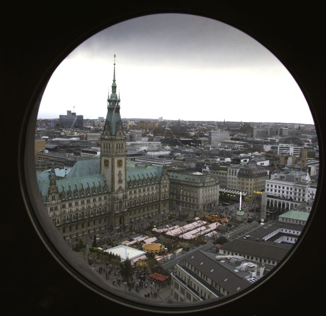 Панорама города с башни церкви