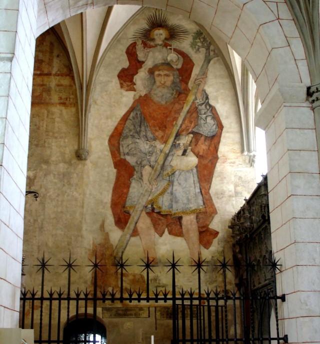 Фреска Святого Христофора