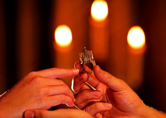 Cвадебное кольцо XIV столетия