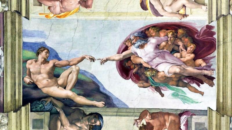 Сотворение Адама, работа Микеланджело