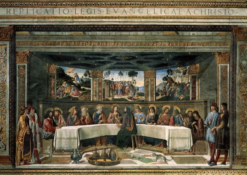 Тайная вечеря, фреска работы Козимо Росселли
