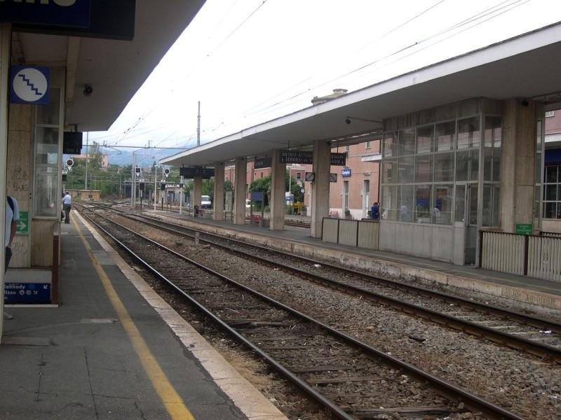 Железнодорожная станция в городе Чампино