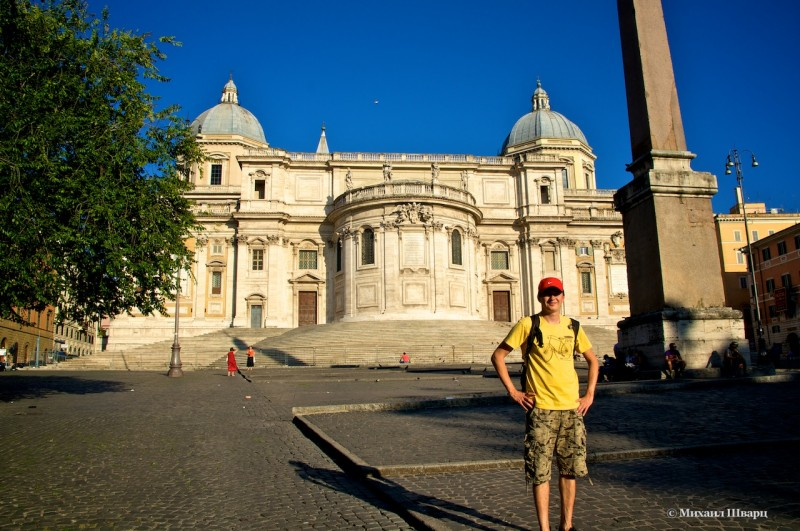На площади перед базиликой Санта Мария Маджоре