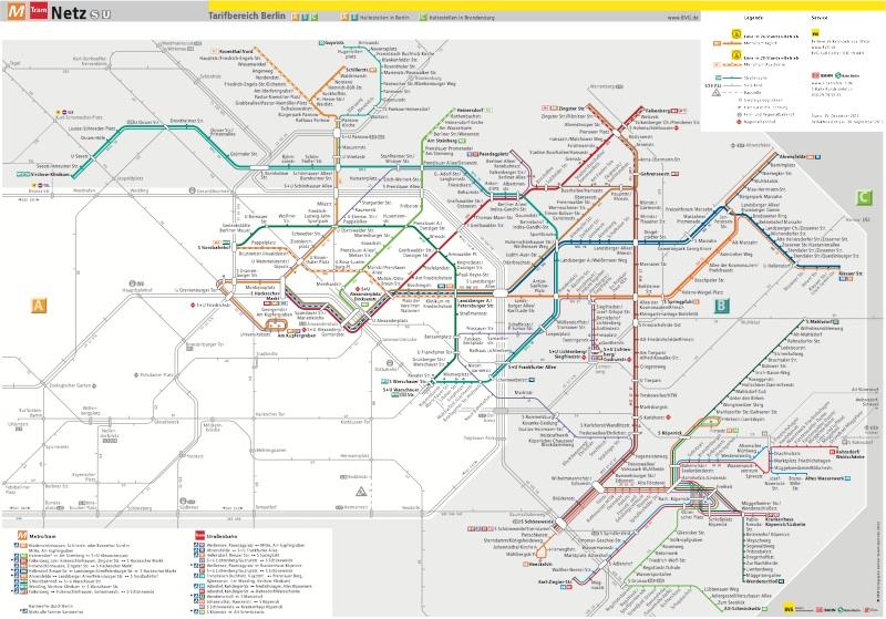 Схема трамваев Берлина