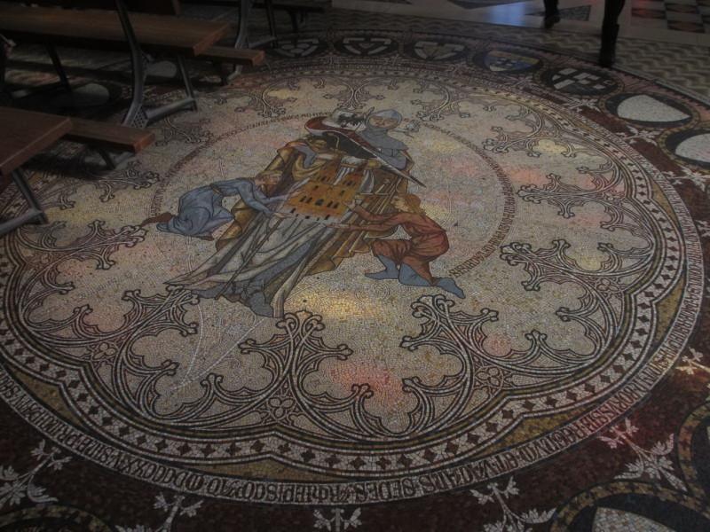 Мозаичный пол в Кельнском соборе