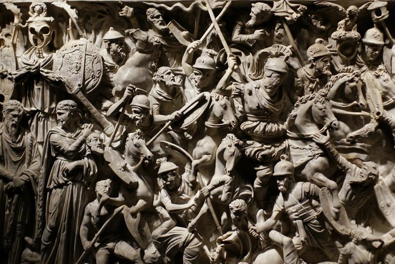 Батальные сцены на колонне Аврелия