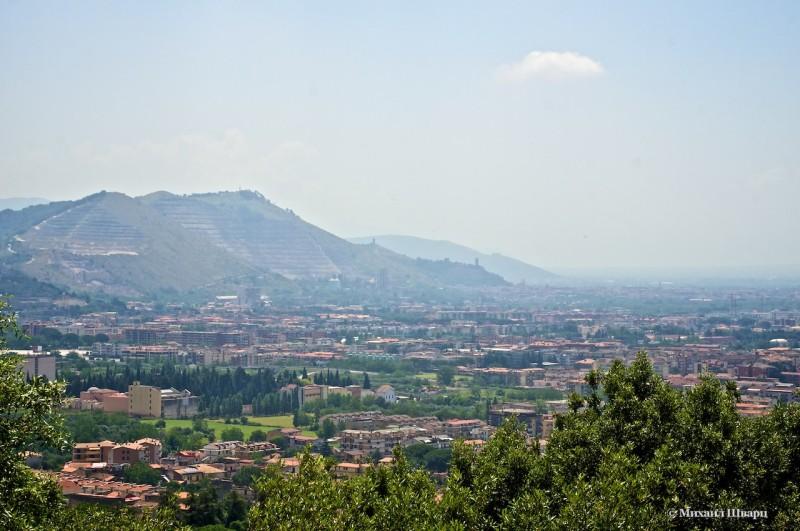 Вид на город Казерта