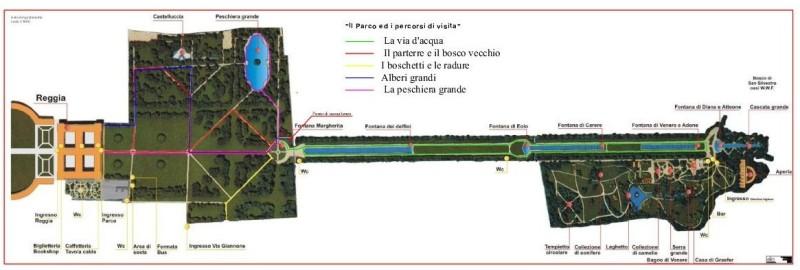 План парка Казерта
