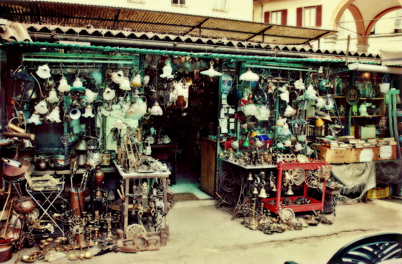 Блошиный рынок Delle Pulci