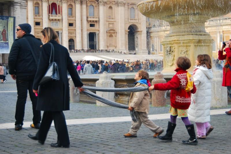С детьми в Ватикане