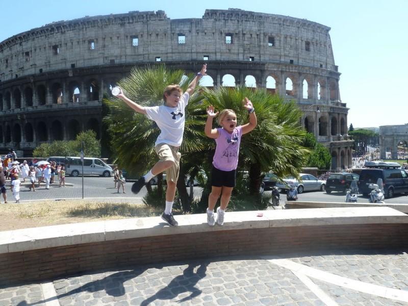 Путешествовать с детьми по Риму приятно и интересно