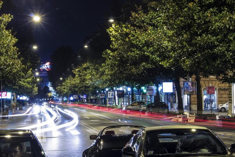 Ночная Виа Венето