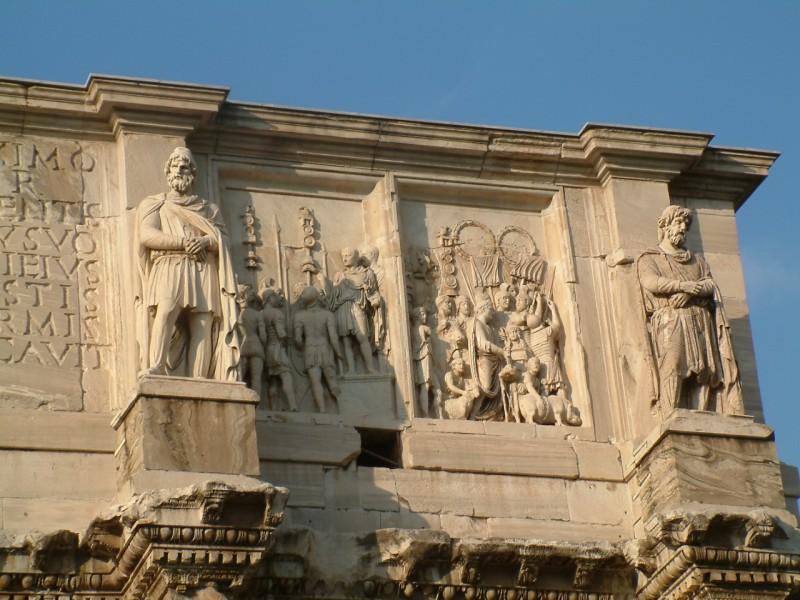 Барельефы с аттика арки