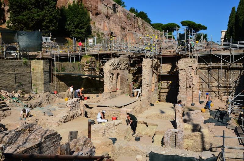 Археологические раскопки на Нероновой вилле