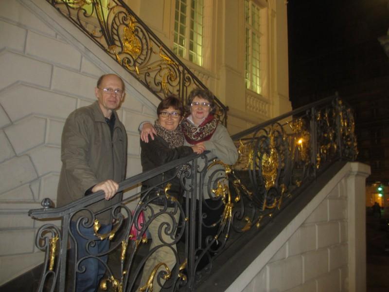 На парадной лестнице Старой ратуши