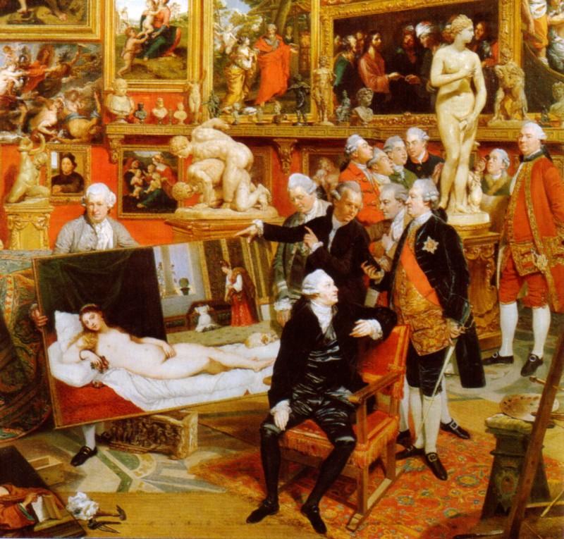 Трибуна Уффици, в живописи XVIII века