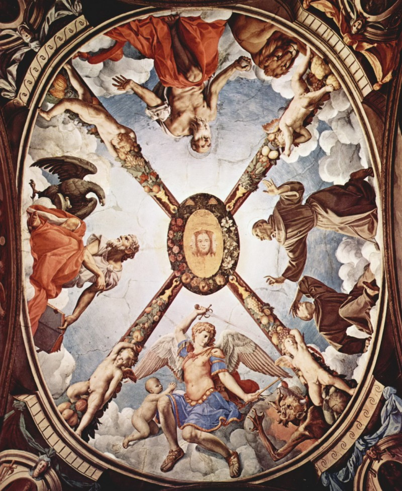 Потолочная фреска работы Аньоло Бронзино в часовне Элеоноры Толедской